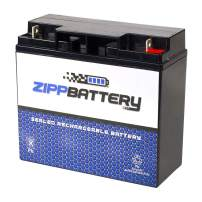 Zipp Battery Rechargeable 12V 17AH 204W Sealed Lead Acid (SLA) Battery - T3 Terminals