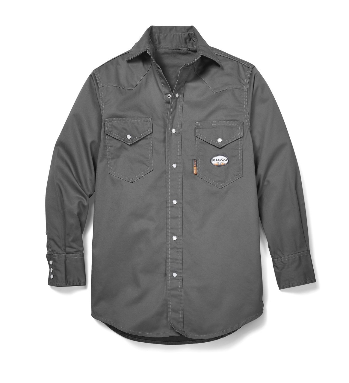 Rasco FR Gray Western Shirt with Snaps 7.5 oz - GR754 2XL-Long