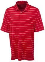Bobby Jones Golf Apparel - Short Sleeve XH2O Jersey Momentum Stripe Polo Shirt for Men