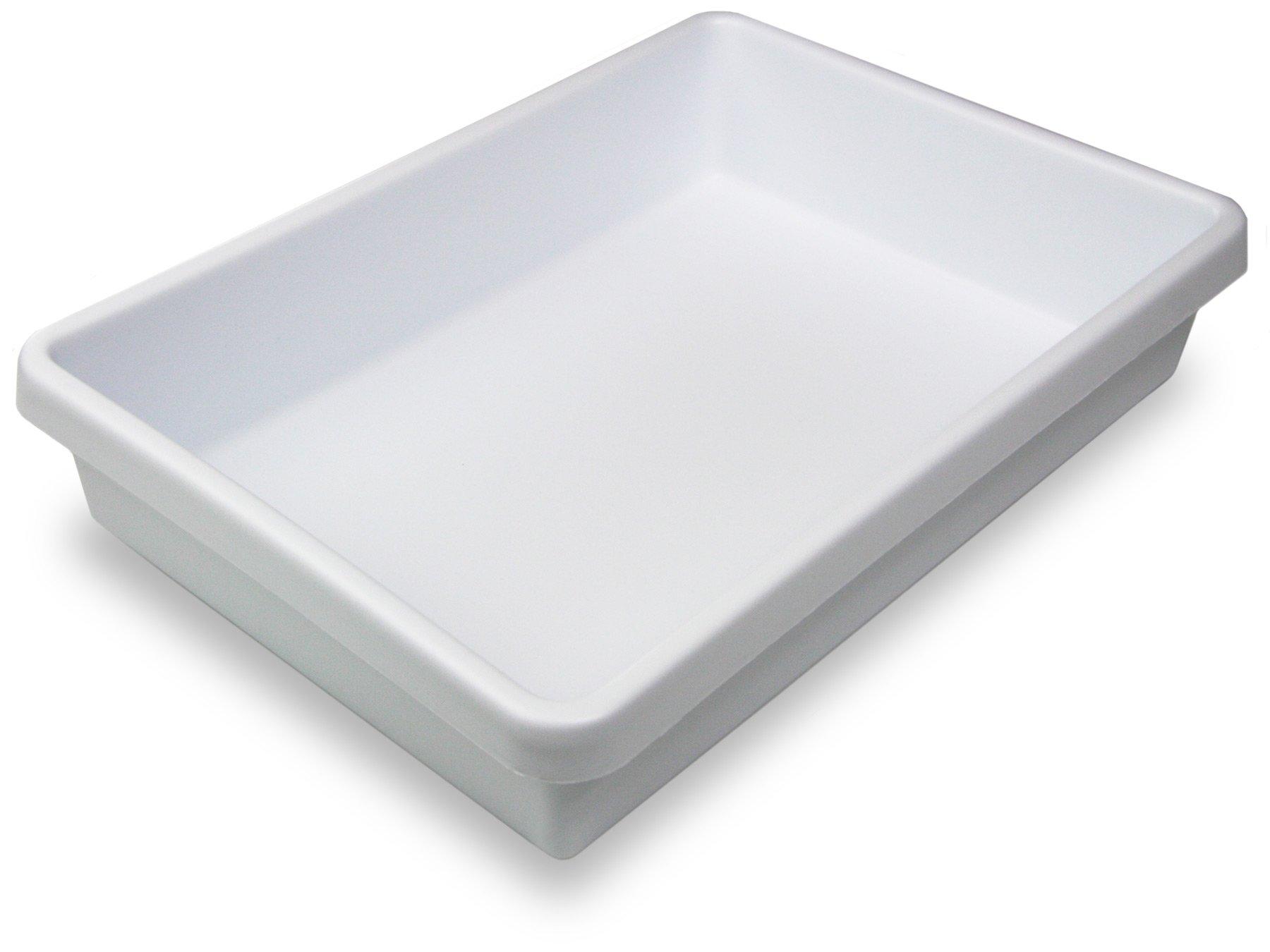 "TrippNT 50424 White Polystyrene Plastic Drawer Organizer, 1 Pocket: 14"" Width x 3"" Height x 10"" Depth"