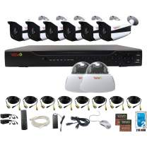 Revo America AeroHD 16Ch. 5MP DVR, 2TB HDD Video Security System, 6 x 5 MP IR Bullet Cameras, 2 x 5 MP IR Dome Cameras Indoor/Outdoor - Remote Access via Smart Phone, Tablet, PC & MAC