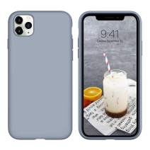 """iPhone 11 Pro Case, DUEDUE Liquid Silicone Soft Gel Rubber Slim Cover with Microfiber Cloth Lining Cushion Shockproof Full Body Protective Case for iPhone 11 Pro 5.8"""" 2019,Lavender Grey"""