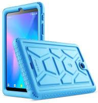 Poetic TurtleSkin Series Designed for Alcatel Joy Tab 8 Tablet case, Alcatel 3T 8 Tablet Case, Heavy Duty Shockproof Kids Friendly Silicone Case Cover, Blue