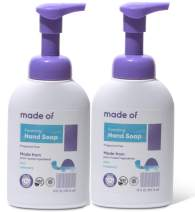 Organic Hand Soap by MADE OF - Dermatologist and Pediatrician Tested - NSF Organic and EWG Verified - For Sensitive Skin and Eczema - Made in USA - 10oz (Fragrance Free, 2-Pack)