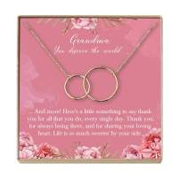 Dear Ava Grandma Necklace: Grandma Gift, Gift for Grandma, New Grandma to Be, Only The Best Moms are Upgraded to Grandma, 2 Interlocking Circles