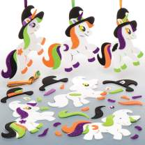 Baker Ross Spooky Unicorn Mix & Match Foam Decoration Stickers | Halloween Arts and Crafts Project | No Glue or Scissors Needed | Kids Ages 3 Years and Up | Pack of 6 Kits