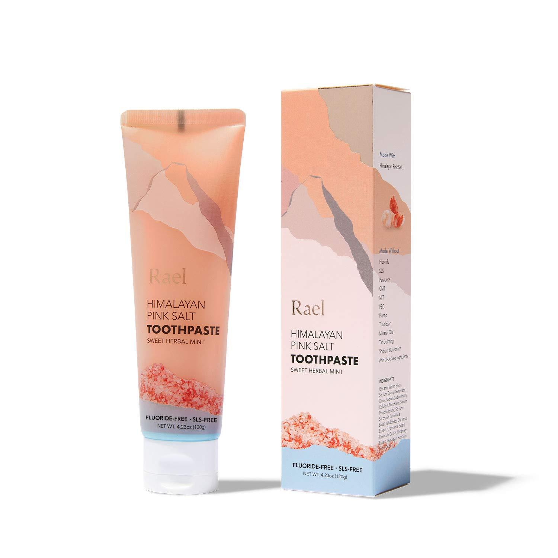Rael Himalayan Pink Salt Toothpaste - Natural, Vegan, Paraben-Free, Anti-Cavity, Fresh Breath, Oral Care, Fresh Soothing Mint, 120g (Tube)