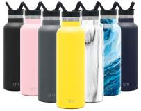 Simple Modern 20 Ounce Ascent Water Bottle with Straw Lid - Stainless Steel Hydro Thermos Tumbler - Double Wall Vacuum Insulated Reusable Metal Leakproof -Sunshine