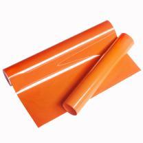 "VINYL FROG Orange Heat Transfer Vinyl 9.8x60""(0.8x5 feet) Iron On HTV for Cameo or Heat Press Machine"