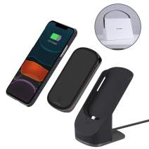 PITAKA Magnetic Wireless Charging Kit iPhone 11 6.1'' Minimalist Super Slim and Light Cover Wireless Charging Stand Dock-and-Go Charger Type C Port Aramid Fiber MagEZ Case + MagEZ Juice