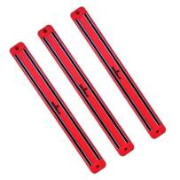 SiliSlick Magnetic Knife Rack Wall Strip | Magnet Tool Holder | Magnetic Bar for Kitchen, Garage, Bathroom, Art Supplies or Home Organizer (3 Red)