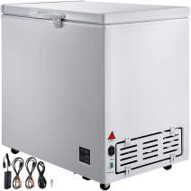 VBENLEM Chest Freezer,167 Quart Commercial RV Deep Freezer,5.6 cu.ft. Compact Vehicle Electric Cooler Fridge,12V/24V DC With Lock for Car Home Camping Truck Party,-0.4℉-32℉ Suit for Solar Power