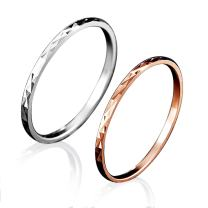 LOVECOM 100% Real 925 Sterling Silver Jewelry Midi Finger Knuckle Rings for Women Lady Girl 2 Pieces (1 Piece Silver + 1 Piece Rose Gold)
