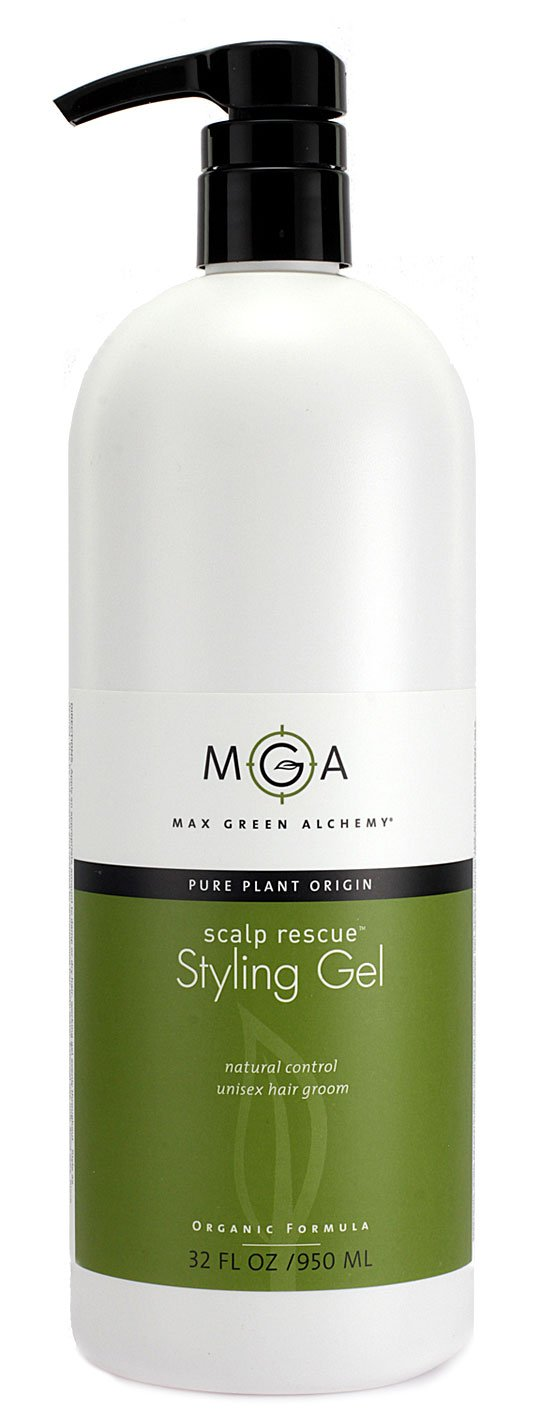 Scalp Rescue Styling Gel, 32 fl oz, Organic Unisex Formula Controls Frizz and Fly Away Hair, Curly Hair Community Favorite Gives Flexible Natural Hold, Fights Humidity, Alcohol Free & Water Based