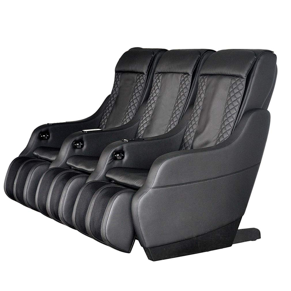 Home Theater Seating RV Movie Theater Chair PU Leather Power Sofa Set 3PCS with Calf Air Massage Back Massageer 4 Point Massage Chair Modern Sofa USB Charging Interface for Living Room Balcony Black