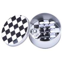 Ycyan 1 set Nail Tips Practice Display Stand Magnetic Stuck Crystal Holder Chessboard Design Professional Nail Art Tools