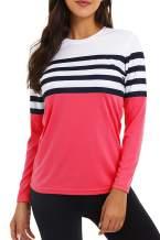 KINGFEN UPF 50+ Sun Protection Workout Shirts Hiking Tops Long Sleeve for Women Thin Quick Dry Shirt
