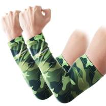 COOLOMG (1 Pair Compression Arm Sleeve Digital Camo Youth/Adult 10 Color 6 Size