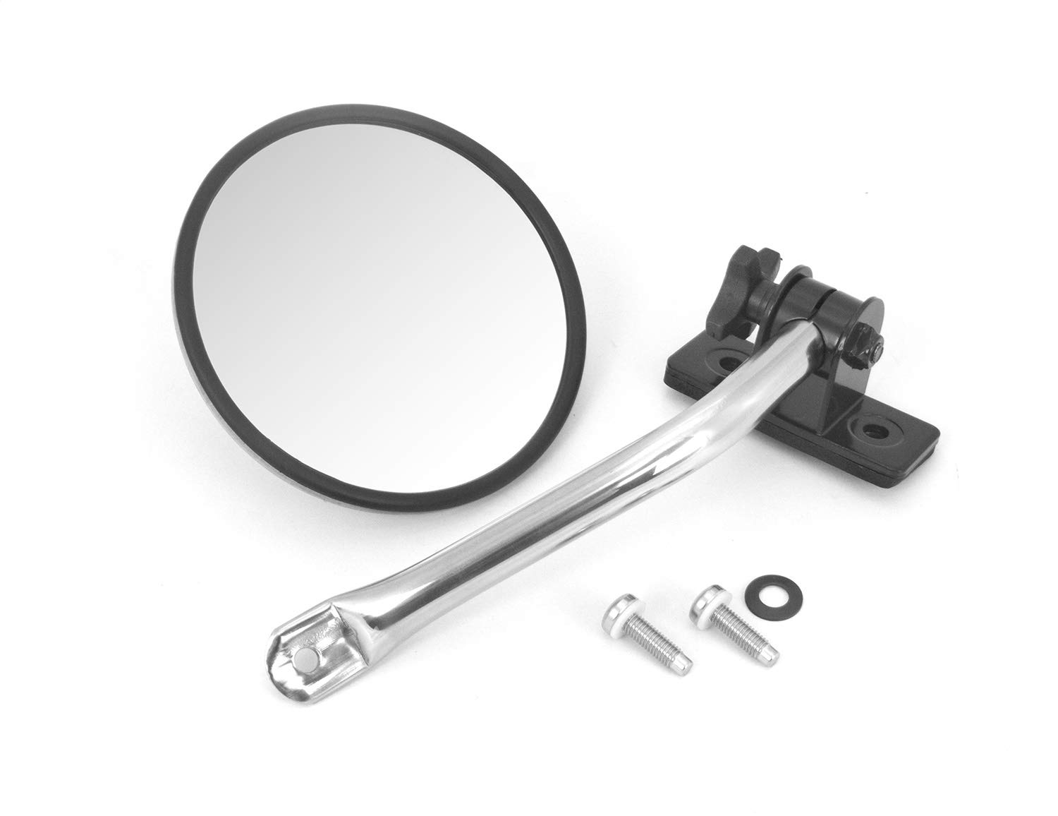Rugged Ridge 11026.10 Silver Stainless Steel Quick Release Mirror Relocation Kit