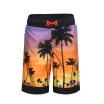 Rokka&Rolla Boys' Quick Dry Drawstring Waist Beach Swim Trunks Board Shorts with Mesh Lining