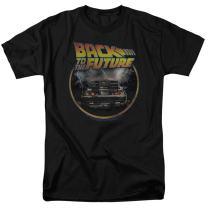 Popfunk Back to The Future Delorean T Shirt & Stickers
