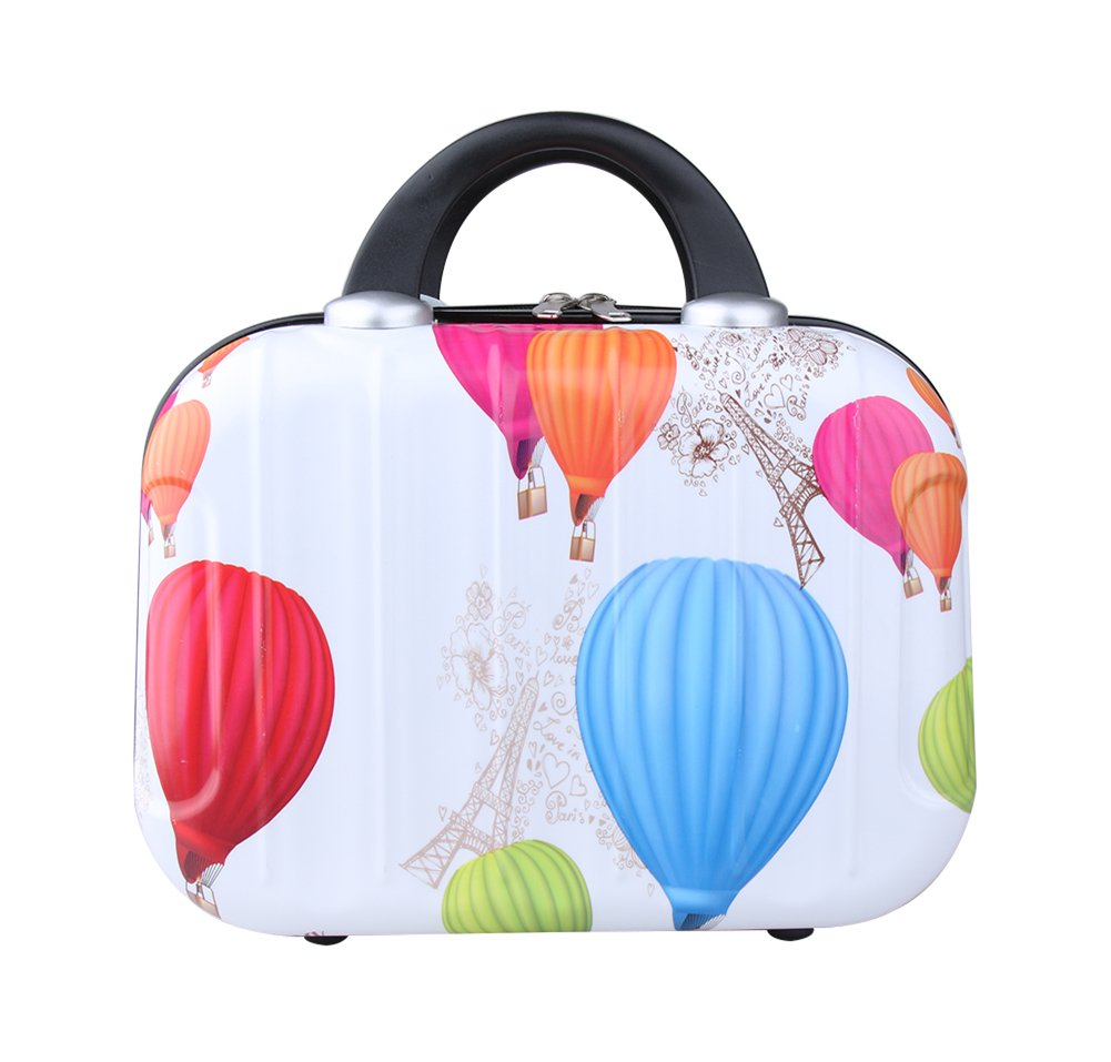Genda 2Archer Cute Cartoon Hard Shell Cosmetic Carrying Case Small Travel Hand Luggage (Balloon)