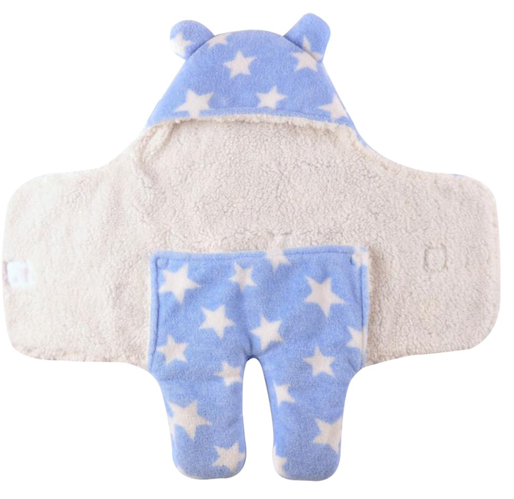 """October Elf Newborn Infant Baby Thicken Sleeping Bag Blanket Wrap for Autumn and Winter (M(30.7""""X33.9""""), Q)"""
