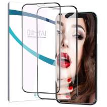 QiMai 2X 3D Full Coverage Screen Protector for iPhone 11 Pro/iPhone Xs iPhone X 5.8 inch Case Friendly 9H Tempered Glass Screen Protector