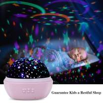 TekHome Star Ocean Projector Night Light for Kids Bedroom, 2020 New Baby Light Projector on Ceiling, Kids Gifts for 3-12 Year Old Girls Boy, Rotating Night Light, Pink.