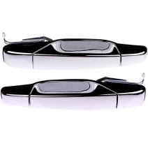 ECCPP Door Handles Chrome Exterior Outside Outer Rear Driver Passenger Side for 2007-2013 Chevy GMC Cadillac (Pack of 2)