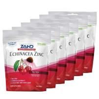 Zand HerbaLozenge Cherry Echinacea Zinc   Throat Lozenges   No Corn Syrup, No Cane Sugar, No Colors   80 Lozenge, 6 Bags