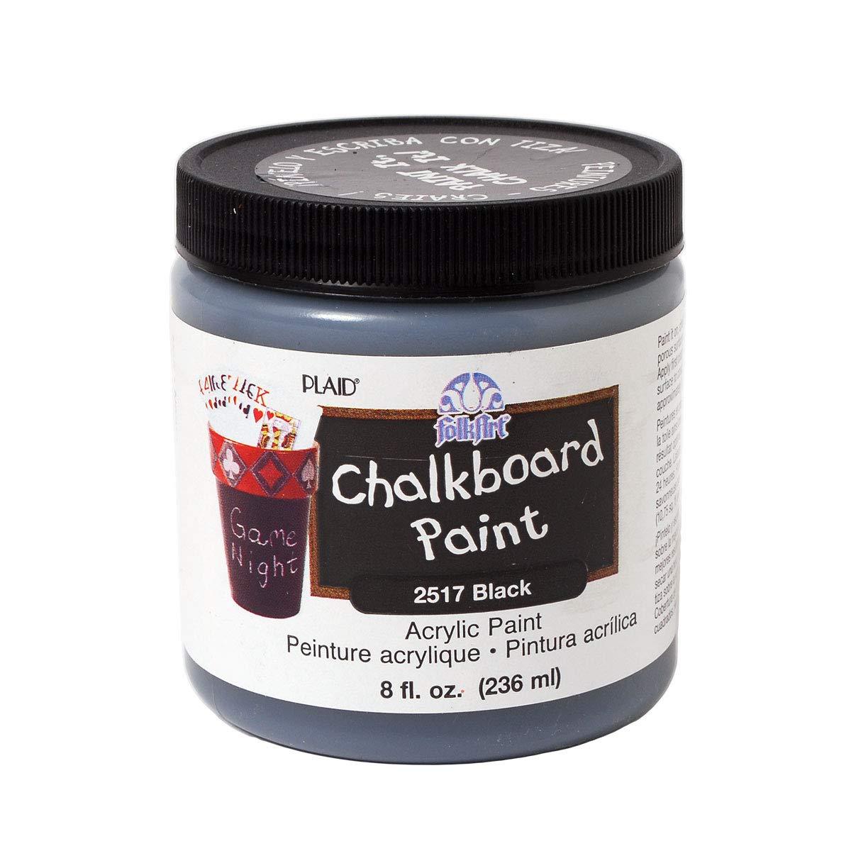 FolkArt Chalkboard Paint in Assorted Colors (8-Ounce), 2517 Black