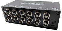 CCTV Camera Pros VDS-4008HD 4 to 8 BNC Video Splitter Box for AHD, HD-TVI, HDCVI, CVBS HD Analog Security Cameras | 720p, 1080p, 3MP, 4MP, 5MP Resolution | RG59 / RG6U / RG6 Coaxial Cable Compliant