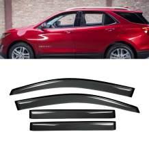 Deebior 4pcs Outside Mount Style Dark Smoke Sun Rain Guard Vent Shade Window Visors Compatible With 2018-2019 Chevrolet Equinox
