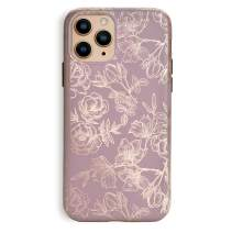 Velvet Caviar Compatible with iPhone 11 Pro Case Floral Flower for Women & Girls - Cute Protective Phone Cases (Rose Gold Flowers)