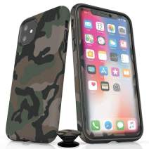 Screenflair- iPhone 11 Accessory Bundle - Designer Drop Tested Matte Protective Case - Shatterproof and Scratch Resistant Screen Protector - Phone Grip - Camo Design