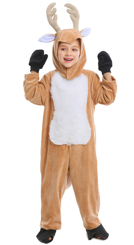 Cuteshower Kids Animal Onesie Pajama Reindeer Christmas Costume Children One Piece Outfit