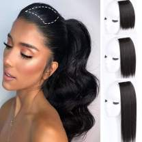 DeeThens 6 Inches Clips in Hair Piece Synthetic Short Straight Hairpieces Invisible Hairpin Hair for Thinning Hair Adding Hair Volume Fluffy Natural Cushion High Hair…