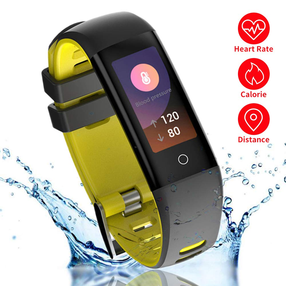 READ Smart Fitness Tracker with Blood Pressure HR Monitor, G16 Sports Activity Tracker Watch with Heart Rate Color Monitor IP67 Bluetooth Pedometer Calorie Counter for Women Kids Men