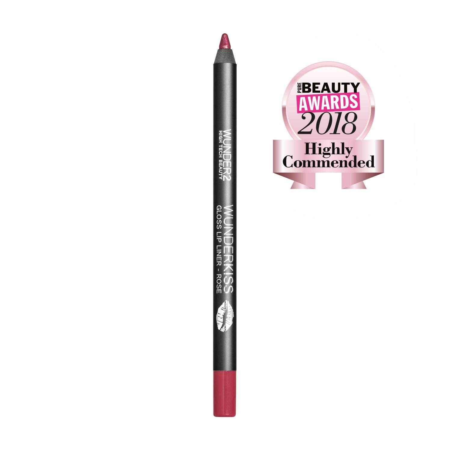 Wunder2 Wunderkiss Gloss Berry Lip Liner - Long Lasting Lip Pencil For Perfect Lip Gloss Look