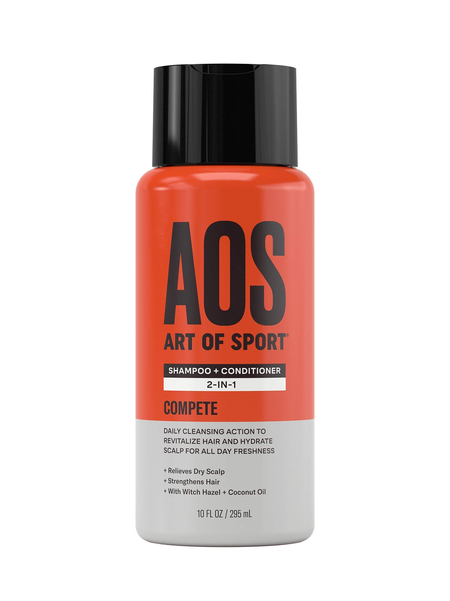 Art of Sport Sulfate Free Shampoo and Conditioner, Compete Scent, Men's Shampoo for Dry Scalp, Hair Strengthening with Hydrating Coconut Oil, For all Hair Types, 10 oz