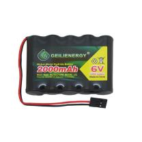 BAOBIAN 6V 2000mAh NiMH RC Battery Pack Rechargeable with Hitec Connector for Remote Control Helicopters Airplane RC Aircrafts and Walking Robot (Pack of 1)