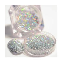 BORN PRETTY 2g/Box Holographic Laser Powder Gorgeous manicuring Nail Art Glitter Dust Powder Silver