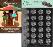 """Cybrtrayd""""Bite Size Roses"""" Fruits and Vegetables Chocolate Candy Mold with Chocolatier's Guide"""