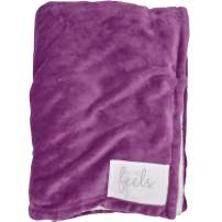 All the Feels Premium Reversible Blanket, Throw, 50x60, Mulberry Haze Throw Blanket, Super Soft Cozy Blanket