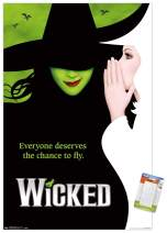 "Trends International Wicked-Key Art Mount Wall Poster, 22.375"" x 34"", Poster & Mount Bundle"