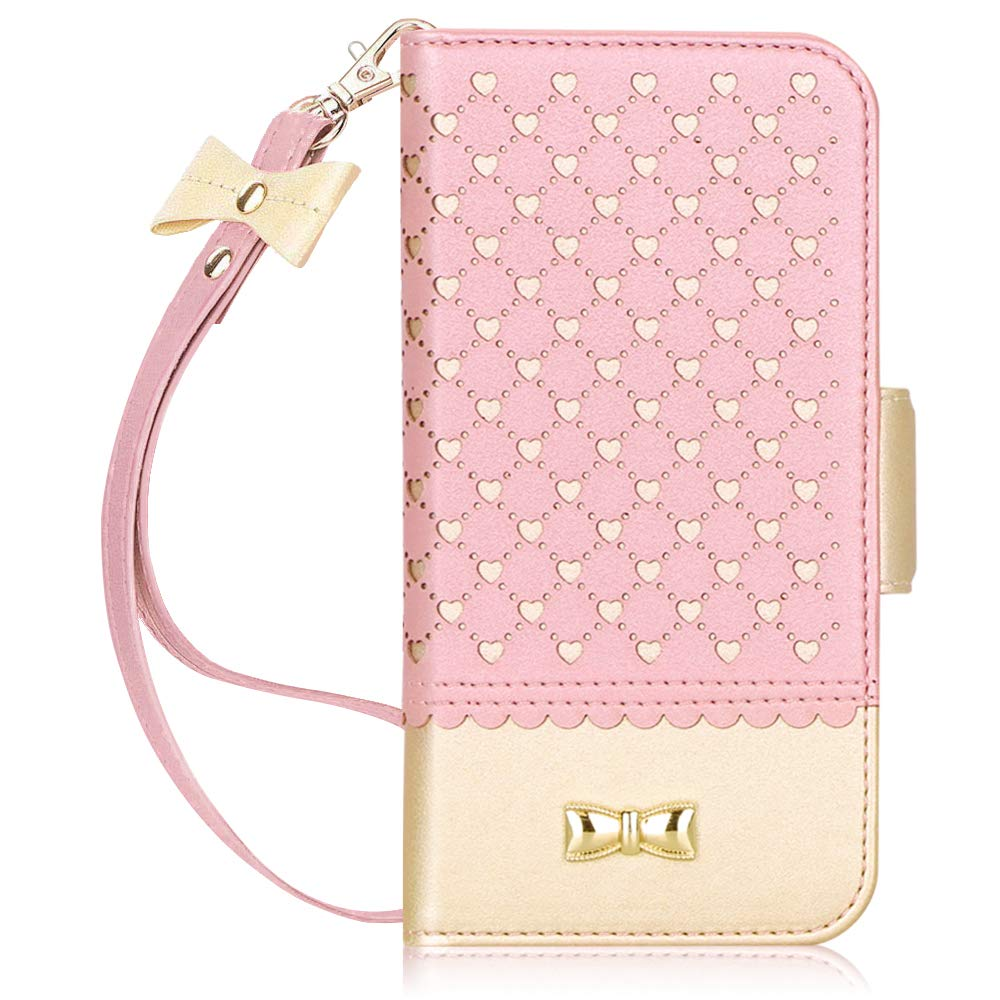 Jasilon iPhone 11 Pro Max Case Cover 6.5'' 2019, [Deluxe Love] Premium Leather Wallet case with [Card Holder, Strap, Kickstand, Mirror], Flip Folio iPhone 11 Pro Max Phone Case for Women-Rosegold