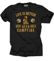 Milky Way Tshirts Camping T-Shirt Life is Better with Beer and Campfire Tee Shirt