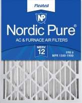 Nordic Pure 16x25x4M12-2 MERV 12 Pleated AC Furnace Air Filters, 2 Pack, 2 Count