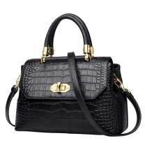 LAORENTOU Women's Genuine Leather Shoulder Bag Cowhide Crossbody Bags Satchel Purse for Women